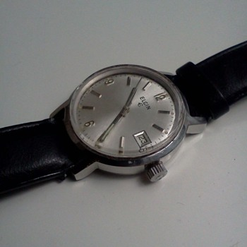 1960's Elgin quick-changing date watch - Wristwatches