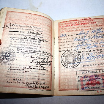 early Vichy France passport - Paper