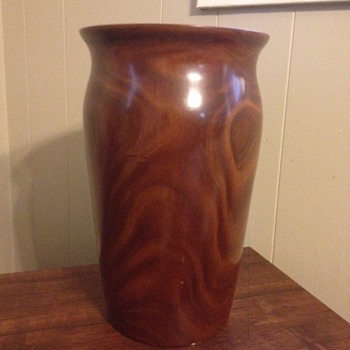 Wooden Carved Vase