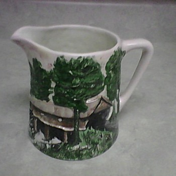 CONCORD COVERED BRIDGE PITCHER - Art Pottery