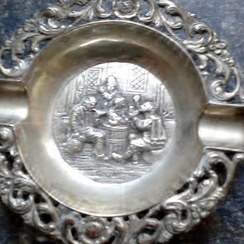 Danish Silver Hallmark Ashtray