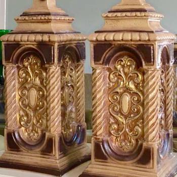 Nardini Studio Table Lamps Mid Century Original Shades