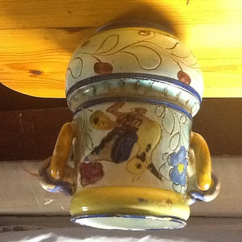 Italy handmade and hand painted signed S /S antique worth a fortune I here - Art Pottery