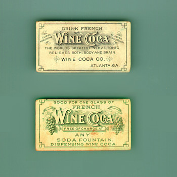 French Wine Coca (Coca-Cola Precurser) Free Drink Coupon - Coca-Cola