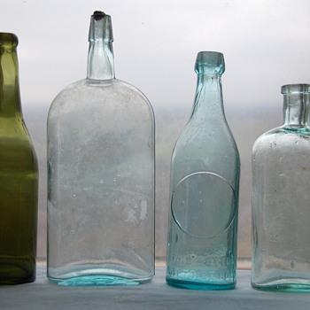 Unmarked Old Bottles Lot #1 Info Please