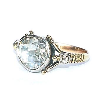Georgian Rose-cut Diamond Ring -- Golconda region - Fine Jewelry
