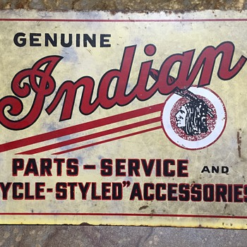 Indian Motorcycle Sign