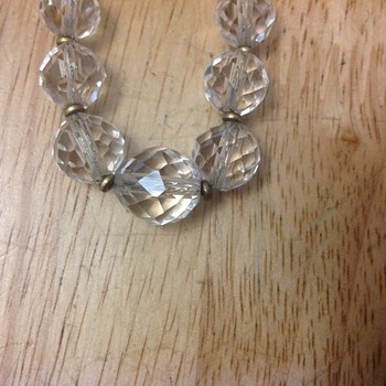 vintage glass crystal necklace  - Costume Jewelry