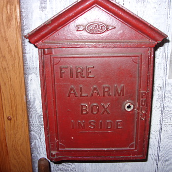 cast iron adt fire alarm box - Firefighting