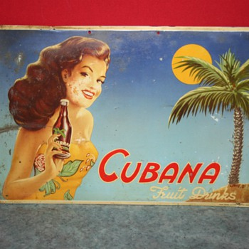 cubana soda sign - Advertising