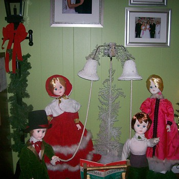 Vintage Christmas Figurines for Window Display - Christmas