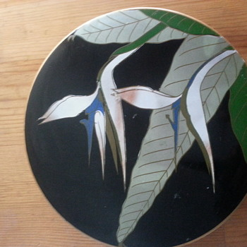 Vintage Japanese Bird of Paradise Lacquer Coasters - Asian
