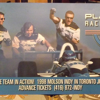 1998 Players Racing Team Poster - Signs