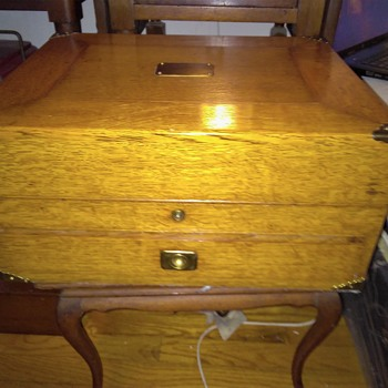 Antique Oak Campaign Box?