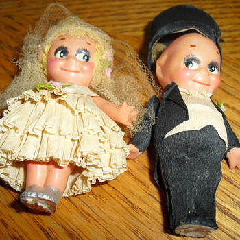 kewpie wedding topper 1920's - Dolls