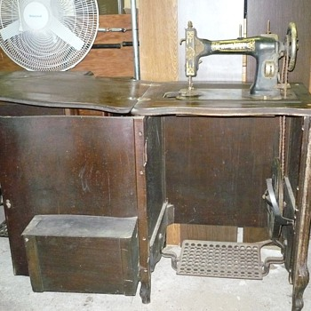White Ratary Treadle Sewing Machine