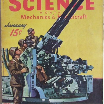 1930&#039;s-40&#039;s Science, Mechanics Magazines - Paper
