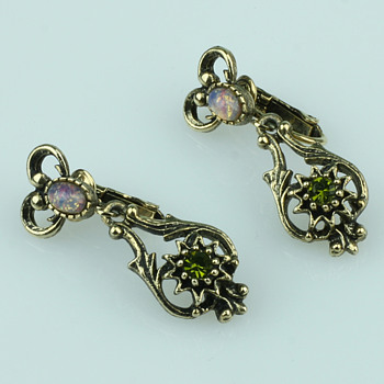 Some costume jewelry earrings