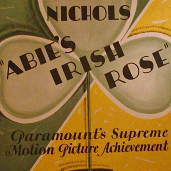 """Abie's Irish Rose"" 1928 Movie Promotional Booklet  Anne Nichols - Movies"
