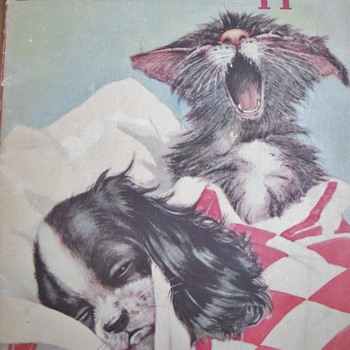 1938 Whitman Linen Kittens & Puppies Book