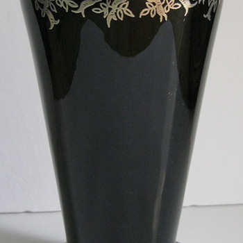 Hoping to identify maker of this Silver Overlay Vase..... - Art Glass