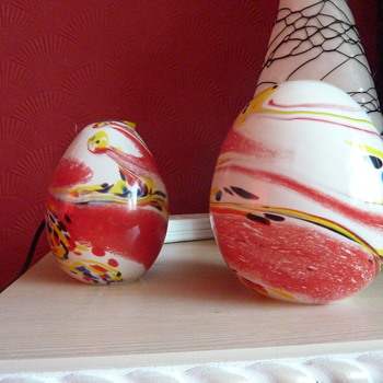 colourful eggs - Art Glass