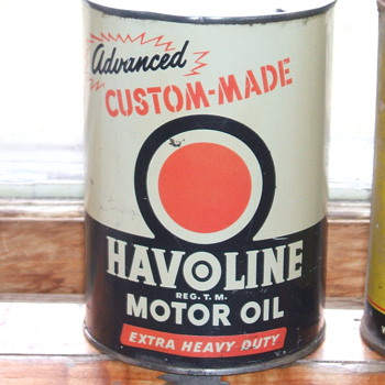 1946 Havoline Oil can - Petroliana