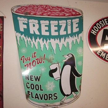 Freezie Ice Cream Sign 1940's
