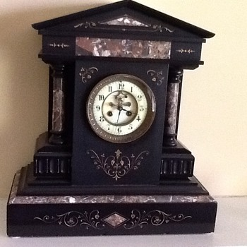 Marble and Slate clock - Clocks