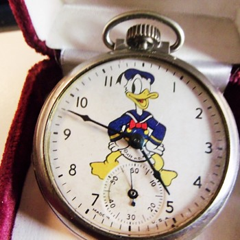 Ingersoll Donald Duck Pocket Watch Circa 1939 - Pocket Watches