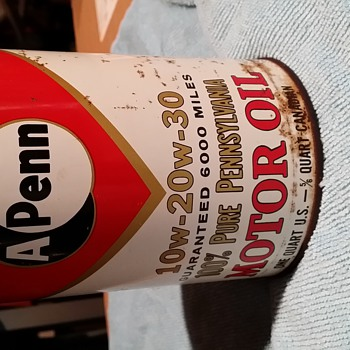 A-Penn Pennsylvania Motor Oil Can