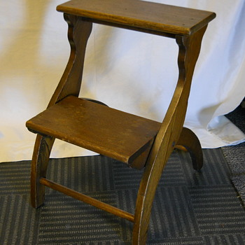 Black Ash 2 step ladder, Circa 1880-1900 - Furniture