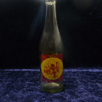 Ontario Beverages Bottle; Ontario, Oregon circa 1947 - Bottles