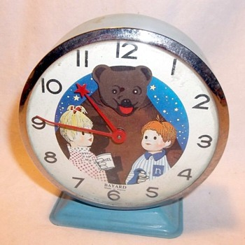 "1963 Bayard Animated Bear  ""Nounours"" Alarm Clock - Clocks"