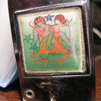1920's Gemini Key chain with foldout Address Pages