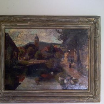 Oil Painting signed M. Wild Nurenburg