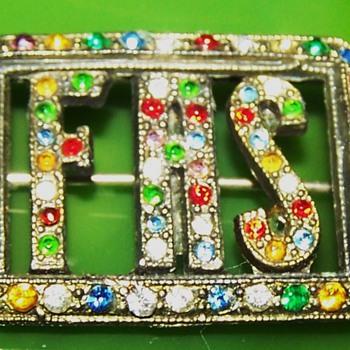 F.A.S vintage multi- rhinestone brooch