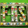 F.A.S vintage multi- rhinestone brooch