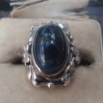 Arts & Crafts Lapis Ring - Wager - Arts and Crafts