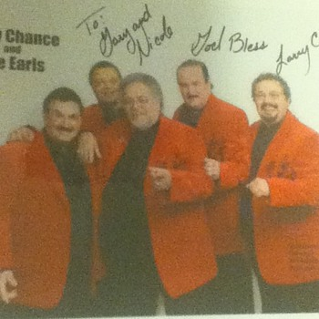Autographed Photo of Larry Chance and The Earls