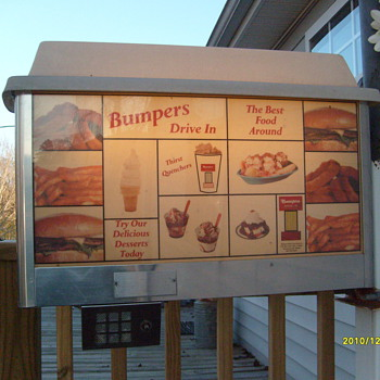 Old Bumpers Drive-in Sign! - Signs