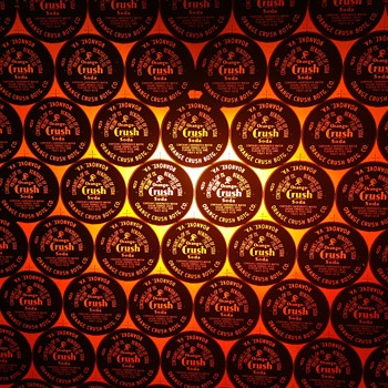 Orange Crush Glass Bottle Caps Roanoke VA