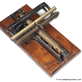 Sun 1 typewriter - 1884