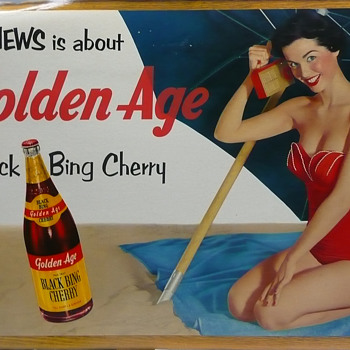 Black Bing Golden Age Cherry Soda Cardboard Large