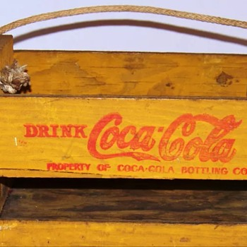 1940's Coca Cola wooden 6pack cases