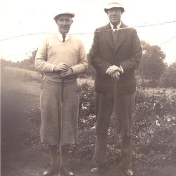 Portrait of 2 golfers - Photographs