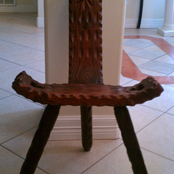 Antique Birthing Stool - Furniture