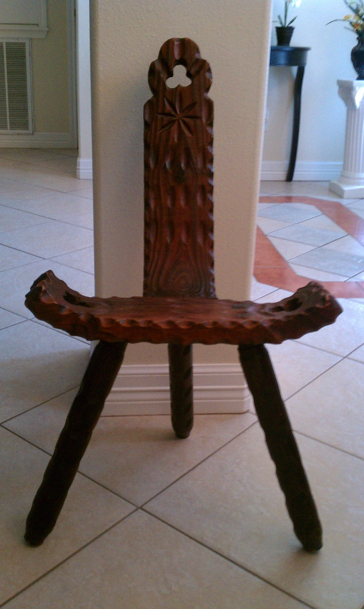 Antique birthing chair -