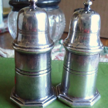 Christofle France salt and pepper shakers, from thrift store, and Christofle Napoleon Letter opener!