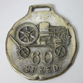 Rare Gilson 60 Speed Hit & Miss Gas Engine Watch Fob
